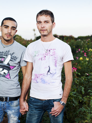 Morocco, Marrakech, 31 October 2011. Portrait Sebastien (right) and Rayan (pseud. left), photo series I Am Gay and Muslim project by dutch foundation Stichting art.1. Photo: Bram Belloni / (c) 2011, www.belloni.nl - CREDIT MANDATORY: Bram Belloni for Stichting art.1 (Bram Belloni)