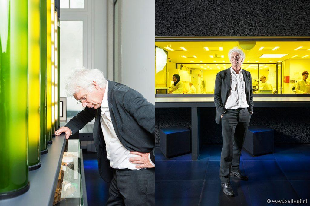 The Netherlands, Amsterdam, 06 March 2015. Portrait prof.dr. WM (Willem) de Vos at Micropia, museum for micro-organisms. Willem de Vos is a Dutch microbiologist and Professor at Wageningen University. Photo: Bram Belloni / Nederland, Amsterdam, 06 maart 2015. Portret prof.dr. WM (Willem) de Vos in Micropia, museum voor micro-organismen. Willem de Vos is microbioloog en hoogleraar aan de Wageningen Universiteit. Foto: Bram Belloni / (c) 2015, www.belloni.nl