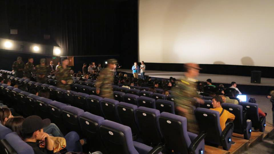 Kyrgyz military prevents screening I Am Gay and Muslim documentary at Bir Duino film festival. September 28th, 2012, Bishkek, Kyrgyzstan.