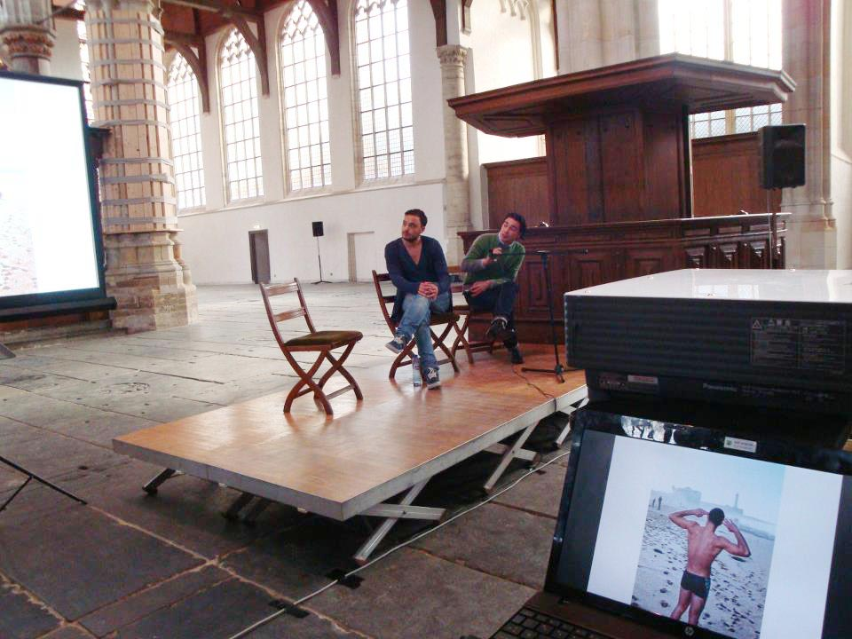 Pride Photo Award Meet & Greet, with makers I Am Gay and Muslim, Chris & Bram Belloni. Oude Kerk, Amsterdam, October 14th, 2012