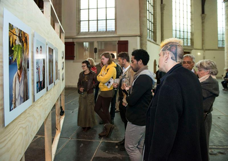 I Am Gay and Muslim project, opening exhibition Pride Photo Award 2012. Oude Kerk, Amsterdam, September 28th, 2012. Photo: (c) Wim Salis